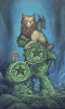 Two of Pentacles by thedancingemu