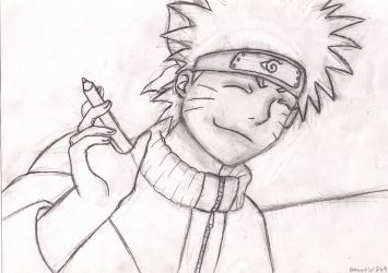 Naruto Sketch for School ^^ by DragonGirl249