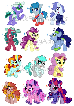 Pony Palette Adopts - OPEN by MonkFishyAdopts