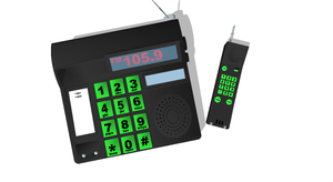 [MMD] 80's Cordless Phone DL by OniMau619