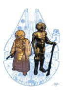 Zuckuss and 4-LOM by LucasMarangon