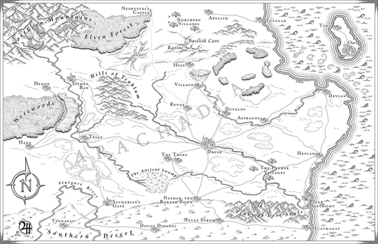 Arachadia: Commission Map for Novel by XianPryde