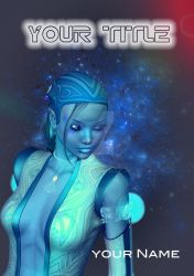 SOLD: Blue SciFi Girl by Anglu