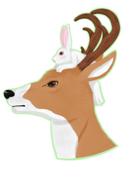 Deer and Bunny by Deidy-chan