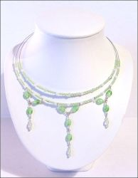 Palest green necklace by Fury-inc