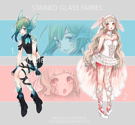 [CLOSED] Adoptables: Stained Glass Fairies I by Staccatos
