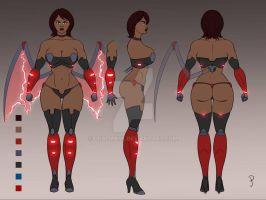 Fallen Wing Model Sheet  by Dualmask