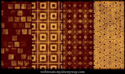 Grungy Fiery Red Patterns by WebTreatsETC