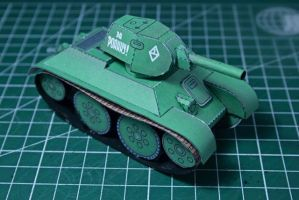 T-34/76 paper model by vladcorail