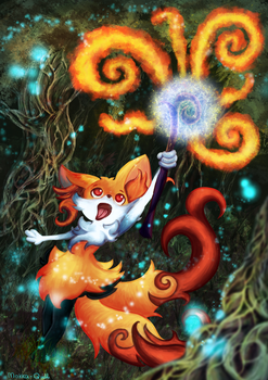 Braixen's Magic! by MokkaQuill