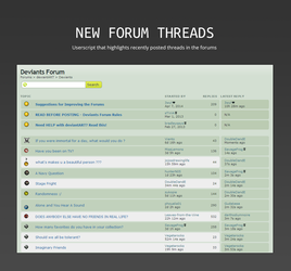 New Forum Threads by SimplySilent
