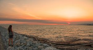 Iona Beach Sunset by Val-Faustino