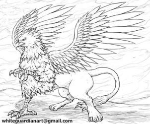 Gryphon Sketch by whiteguardian