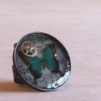 The Butterfly Clockwork Ring by RagDolliesMadhouse