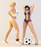 Nina and Anna 3DS Render by x2gon