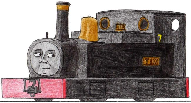 Tim the Black Mid-Sodor Engine by 01Salty