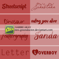 Font pack by mrs-greendoctor