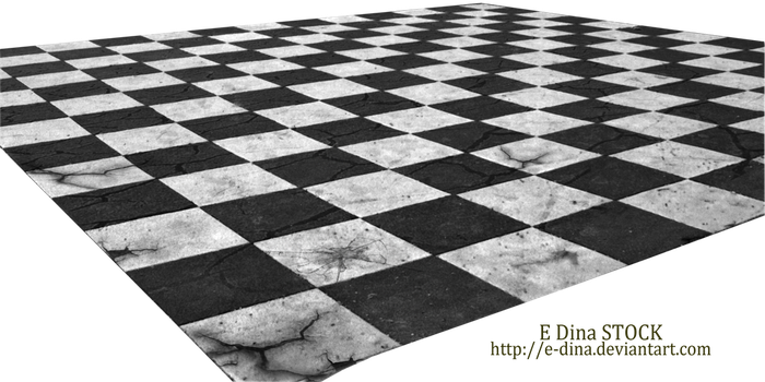 HQ PNG Stock Chessboard Floor broken by E-DinaPhotoArt