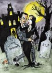 Gomez and Morticia by Moonlight by brodiehbrockie