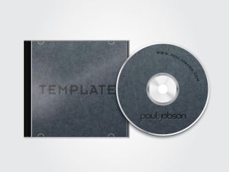 Vector CD and CD Case Template by pauljobson