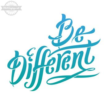 Be Different (Shirt Close Up) by ShirtSayings