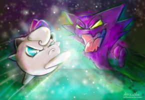 Jiggly Puff And Haunter by Mad--Munchkin
