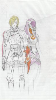 enemy Shepard and  tali by Qu-Ross
