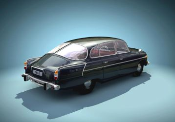 Tatra 603-2 back view by warag
