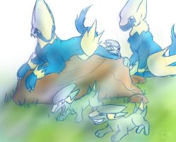 Manectric and Electrike sketch
