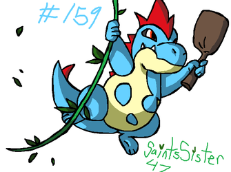 #159 Croconaw by SaintsSister47