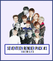 SEVENTEEN Render Pack #3 by baemilks