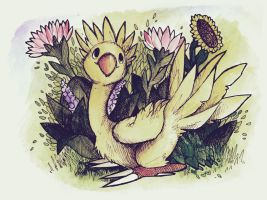 Flower de Chocobo by missbooyaka