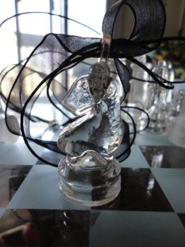 Clear Knight Chess Pendant by akiseo