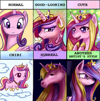 Style meme Cadance by Incinerater