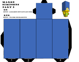 Marge Simpsons Part 2 Cubeecraft by JagaMen