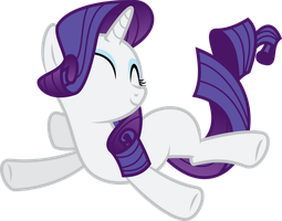 Rarity Falling in joy by Yetioner