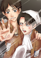 Levi and Eren: Screen Lock by JauntyEyes