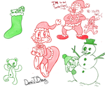 Holiday Doodles 2017 by DBToonPhenomenal