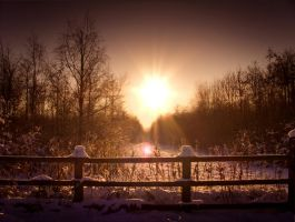 STOCK: Sunset snow scence 2 by needanewname