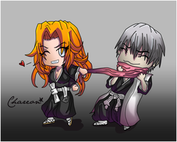 Gin x Rangiku: Mine, All Mine (Chibi) by Chareon