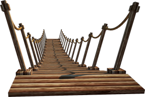 Wooden Bridge 5-A+ | Suspension Bridge 5-A+ | PNG by fumar-porros
