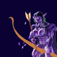 The Night Elf Archer WIP 1 by fascina