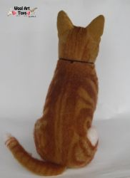 Tangy Needle felted cat sculpture by WoolArtToys