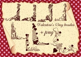 Valentine's Day brushes corners by roula33