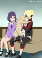 boruto and sumire by 0AkaneTakeshi0