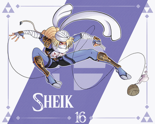 Smash Ultimate #16: Sheik by Andy-roo78