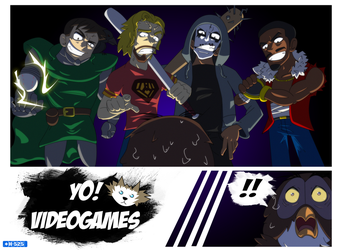 YoVideogames Doods and Owl by Hawke525