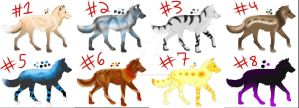 Wolf Adopts Batch 1 by WinterVodka-Stables
