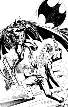 Batman vs. Joker by KomicKarl