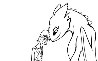 Buddies - Toothless+Hiccup WiP by Rhino0